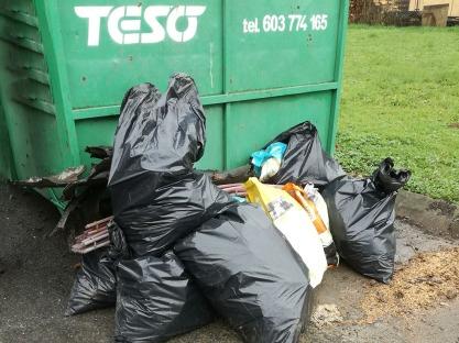 Odpad z úseku Jasenice - Mštěnovice